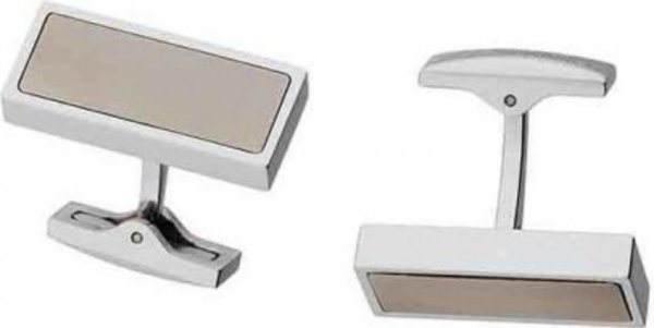 Titanium And Stainless Steel Cuff Links