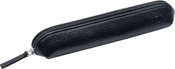 Liberté 2/3 Pen Case – Grained Black Leather