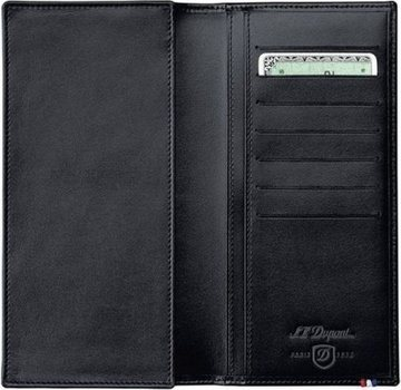 Line D Long Wallet, Space For Credit Cards – Black Elysée