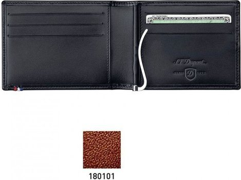 Line D Money Clip And Space For Credit Cards – Brown Elysée